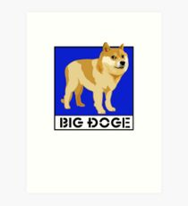 """Dogecoin inspired by """"Big Dogs"""" Art Print"""