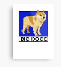 "Dogecoin inspired by ""Big Dogs"" Metal Print"