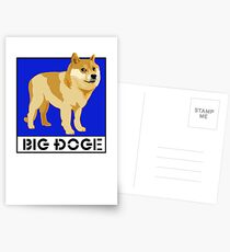 "Dogecoin inspired by ""Big Dogs"" Postcards"