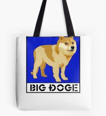 "Dogecoin inspired by ""Big Dogs"" Tote Bag"