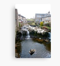 Falls on the River Ure, Hawes, Yorkshire Dales Canvas Print