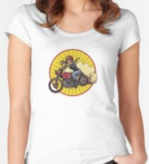 Moto Grrrrl Women's Fitted Scoop T-Shirt