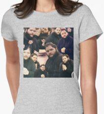 Buttcrack man Women's Fitted T-Shirt