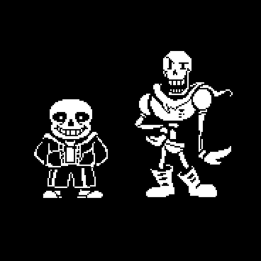Papyrus and Sans from Undertale by ShawnEz :)