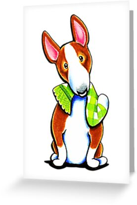 Red Bull Terrier Lets Play by offleashart