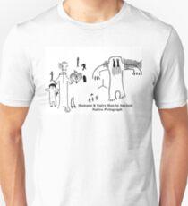 Human & Hairy Man Pictographs T-Shirt