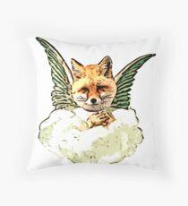 Angel Fox Throw Pillow