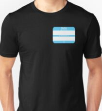 Hello, My PRONOUNS Are (Transmale Blue) Unisex T-Shirt