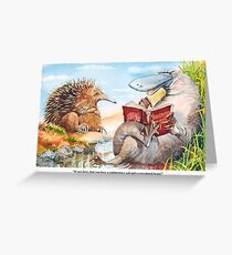 Animal lesson Greeting Card