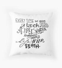 A Reader's Proverb Throw Pillow