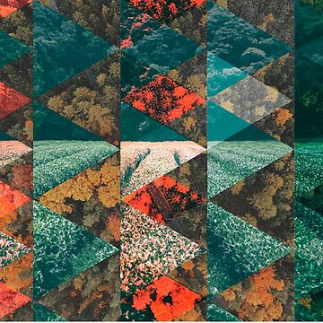 AUTUMN forest geometric collage by absolutewhite