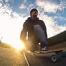 Sunset Longboarding with my GoPro Camera by willgudgeon