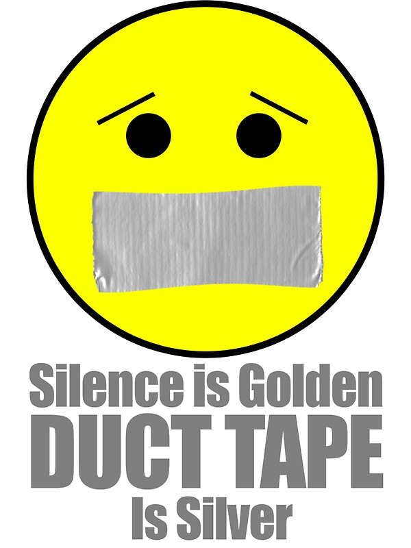 Quot Silence Is Golden Duct Tape Is Silver Emoji Quot Stickers By