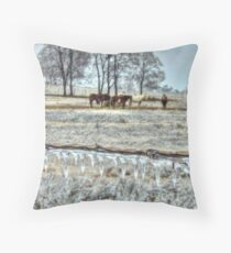 Iced In Pasture Throw Pillow
