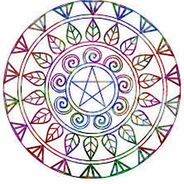 Colorful Pentacle Mandela - Art Print by avalonmedia