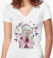 steve buscemi is a pastel goth girl Women's Fitted V-Neck T-Shirt