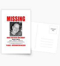 "Breaking Bad ""Missing"" Poster Postcards"