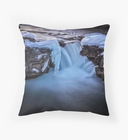 Frozen Splendor Throw Pillow