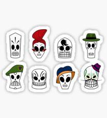 Grim Fandango Skulls Sticker