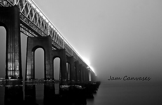 Tay rail bridge ,Dundee by JamCanvases