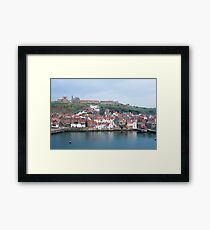 Lower harbour at Whitby Framed Print