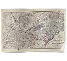 Civil War Maps 1151 Military map showing the marches of the United States forces under command of Maj Gen'l WT Sherman during the years 1863 1864 1865 02 Poster