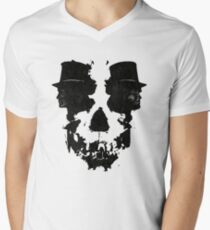 Skull of Jekyll/Hyde Men's V-Neck T-Shirt