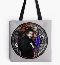 Tim Burton Stained Glass Tote Bag