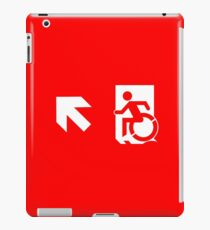 Accessible Means of Egress Icon Emergency Exit Sign, Left Hand Diagonally Up Arrow iPad Case/Skin