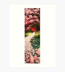 Cherry Blossom Geisha Art Print