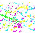 Bright color splashes by AHakir