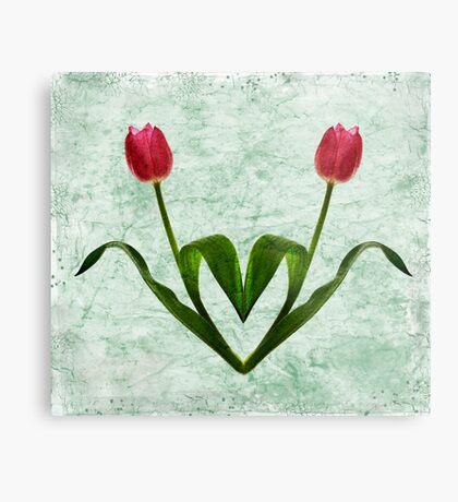 Tulip Heart Metal Print