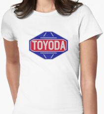 Original Toyota logo - 'Toyoda' Womens Fitted T-Shirt