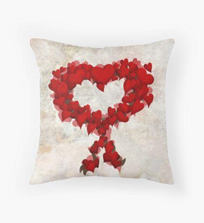Heart Wreath ♥ Throw Pillow
