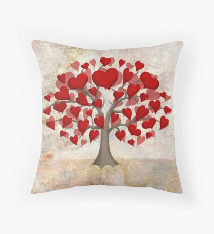 Heart Tree ♥ Throw Pillow