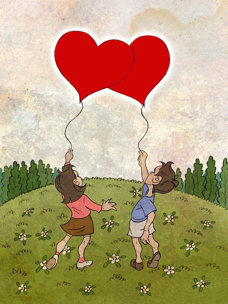 Heart Balloons ♥ by Chris Baker