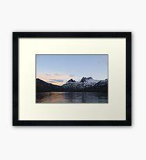 winter sunset cradle mountains Framed Print