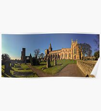 Panoramic View of Dunfermline Palace, Abbey and Graveyard Poster