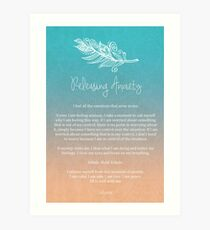 Affirmation - Releasing Anxiety Art Print
