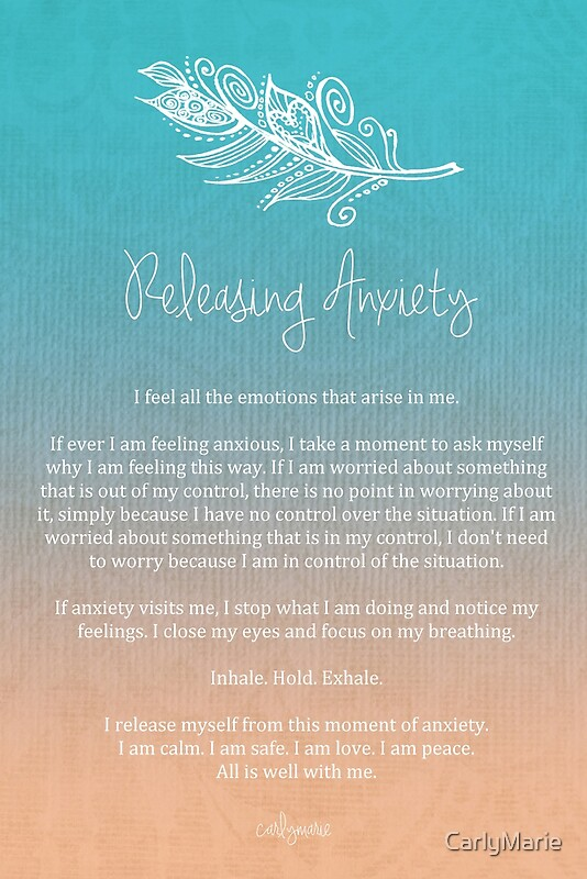 Quot Affirmation Releasing Anxiety Quot By Carlymarie Redbubble