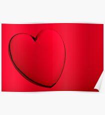 Acrylic heart shape miniature Poster