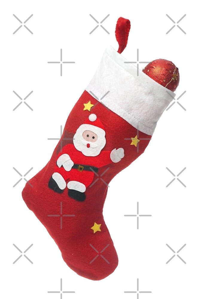 Santa's white and red stocking by homydesign