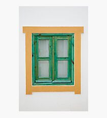 Traditional Portuguese window Photographic Print