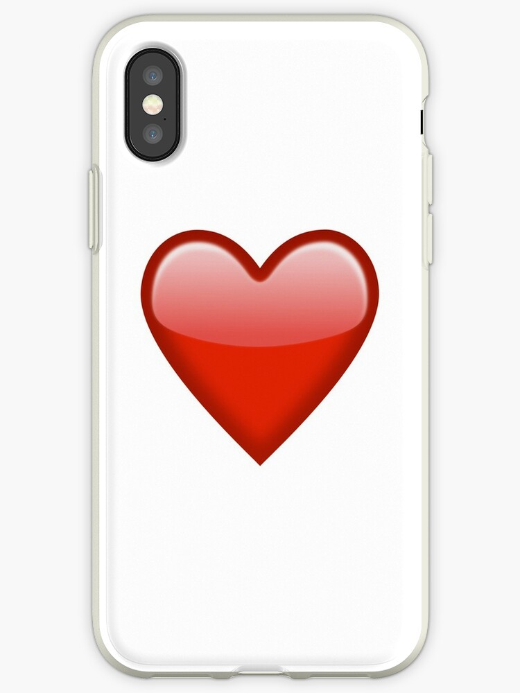 reputable site 16db0 7497f 'Red Heart Emoji' iPhone Case by Brogy2323