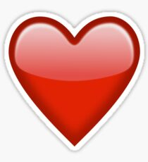 Red Heart Emoji Sticker