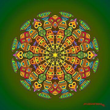 Hand Drawn Mandala - The Maker by mandala-jim