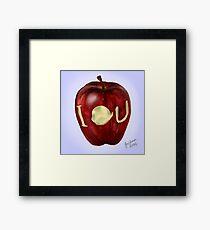 Moriarty IOU apple- BBC Sherlock Framed Print