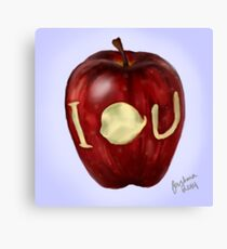 Moriarty IOU apple- BBC Sherlock Canvas Print