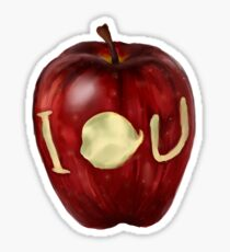 Moriarty IOU apple- BBC Sherlock Sticker