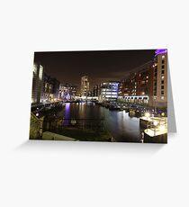 Leeds By Night #3 - Leeds Dock Greeting Card